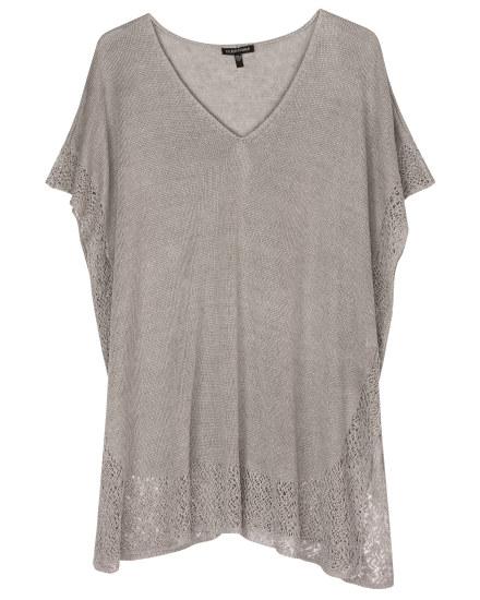 Linen Delave W/lace Trim Tunic