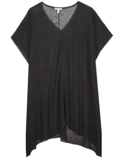 Fine Organic Linen Crepe Knit Serape