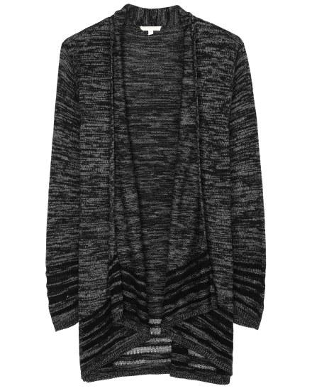 Organic Cotton Knit Stripe Cardigan