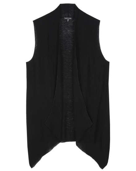 Washable Wool Fine Crepe Vest