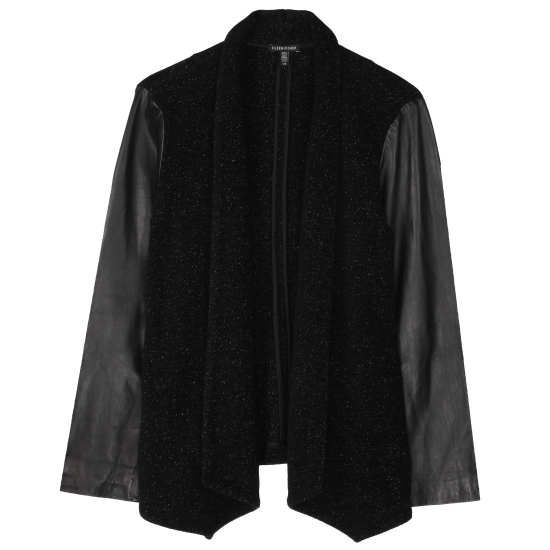 Plush Cotton Speckle with Leather Jacket