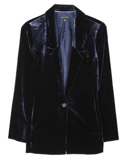 Lined Velvet Coat