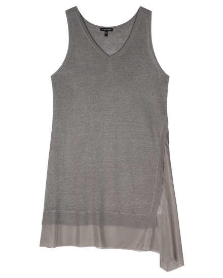 Linen Silk Jersey w/Silk Habutai Dress