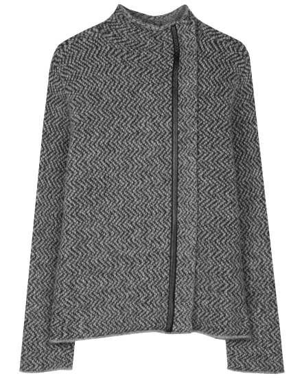 Eco Pebble Herringbone Coat