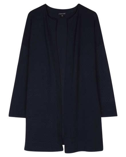 Silk & Organic Cotton Jacquard Jacket