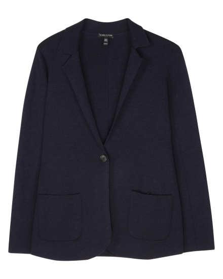 Washable Wool Interlock Cardigan