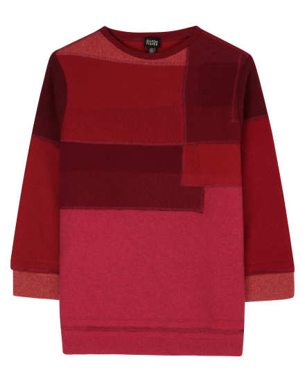 Resewn Cashmere Felt Sweater