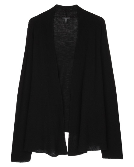 Washable Wool Fine Crepe Cardigan
