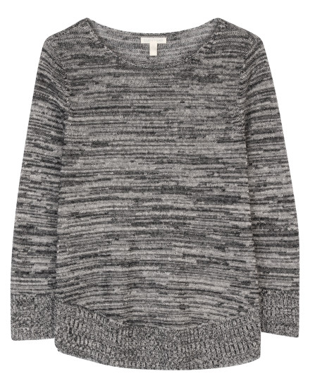 Organic Twisted Blurred Pullover