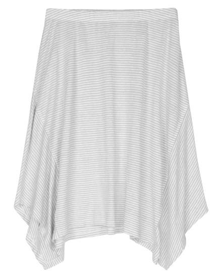 Organic Linen Jersey Stripe Skirt