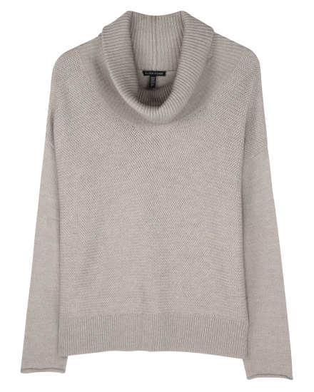 Merino Jersey with Baskey Weave Stitch Pullover
