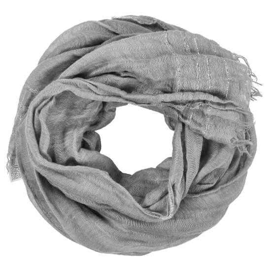 Linen Cotton Irridescent Stripe Scarf