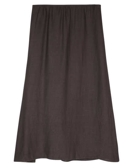 Linen Viscose Crepe Skirt