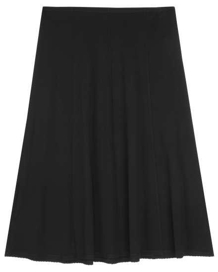 Stretch Silk Jersey Skirt