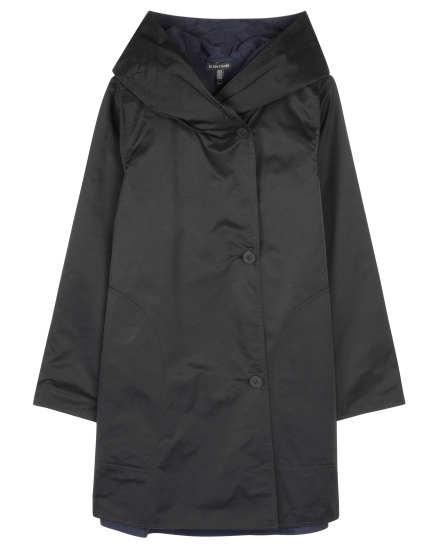 Reversible Cotton Nylon Sheen Coat