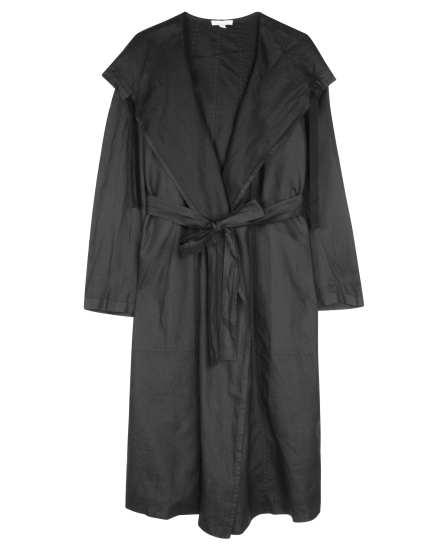 Coated Organic Linen Coat
