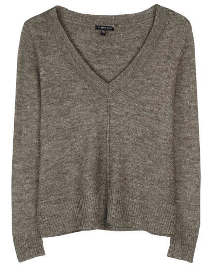Fine Wool Linen Slub Links Pullover
