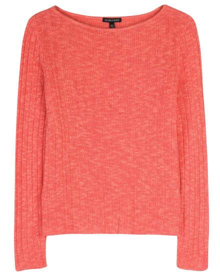 Organic Linen & Cotton Varigated Rib Pullover