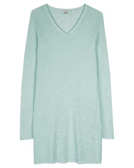 Organic Linen Cotton Slub Rib Pullover