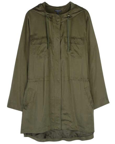 Polished Woven Tencel Coat