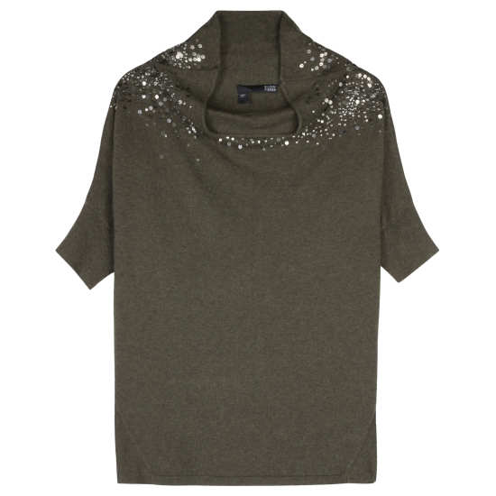 Organic Cotton & Cashmere with Sequins Pullover