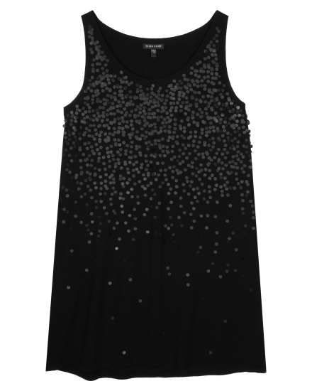 Sequined Fine Merino Tank