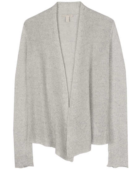 Twisted Linen Knit Cardigan