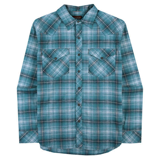 M's Long-Sleeved Western Snap Shirt