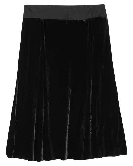 Washable Stretch Velvet Stretch Velvet Skirt
