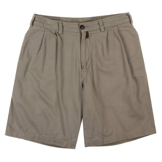 M's Pleated Twill Shorts