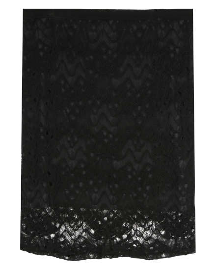 Rayon Nylon Crinkle Lace Skirt