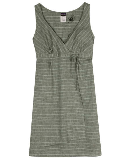 W's Island Hemp Crossover Dress