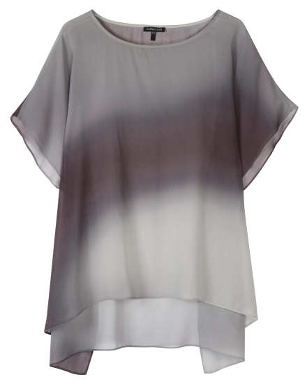 Watercolor Silk Sheer Tunic