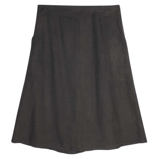 Washed Linen Twill Skirt