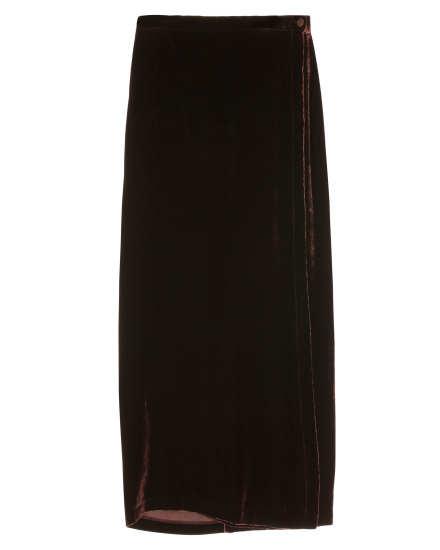 Lined Velvet Skirt