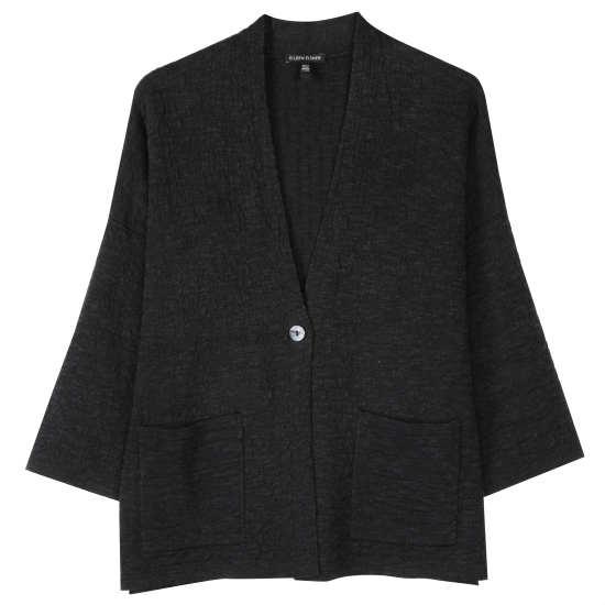 Organic Linen & Cotton Grid Jacket