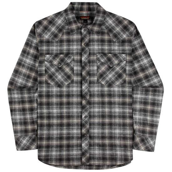 M's Long-Sleeved Western Snap Shirt