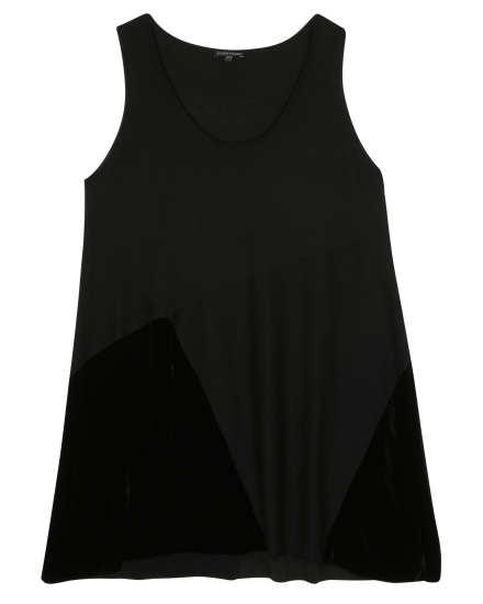 Merino with Velvet Panels Dress