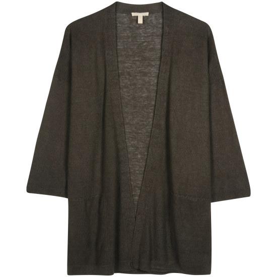 Fine Gauge Organic Linen Links Cardigan