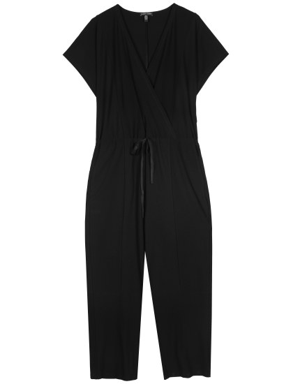 Resewn Washable Stretch Crepe Crossover Jumpsuit