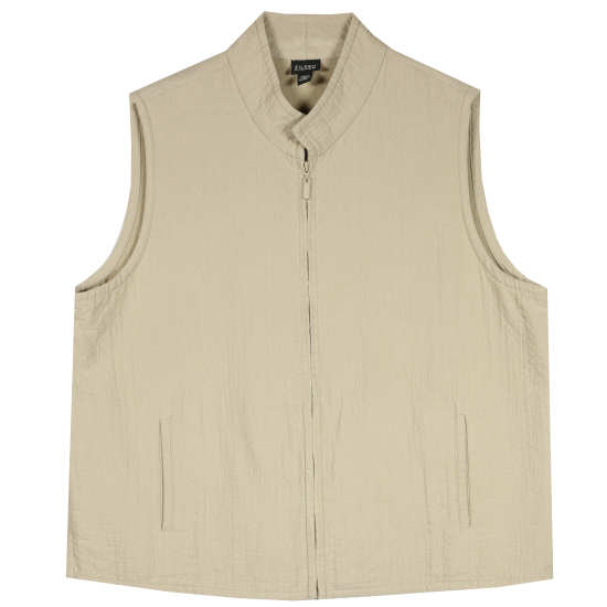 Cotton Viscose Pucker Vest