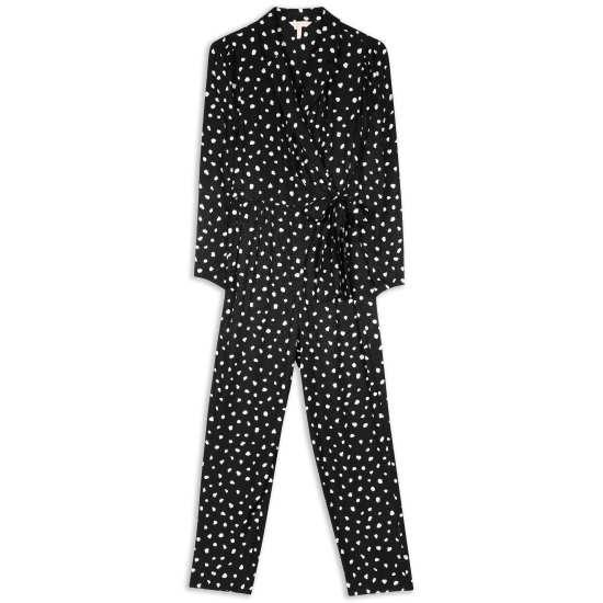 Women's Dot Wrap Jumpsuit