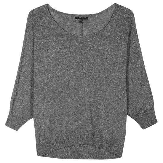 Weightless Wool Silk Speckle Pullover