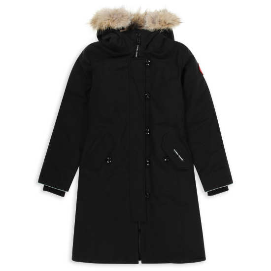 Girls' 'Brittania' Down Parka with Genuine Coyote Fur Trim