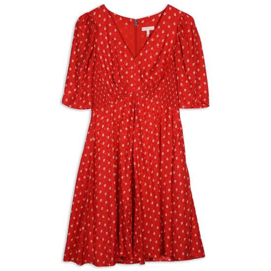 Women's Sunrise Dot Silk Blend Dress