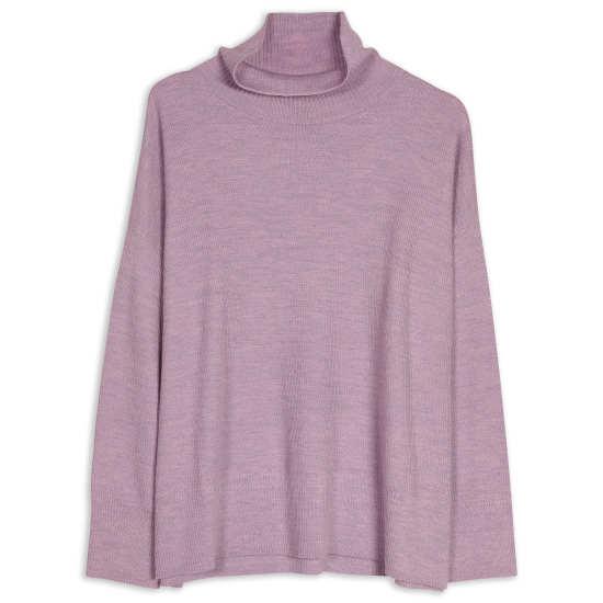 Women's Funnel Neck Boxy Merino Sweater