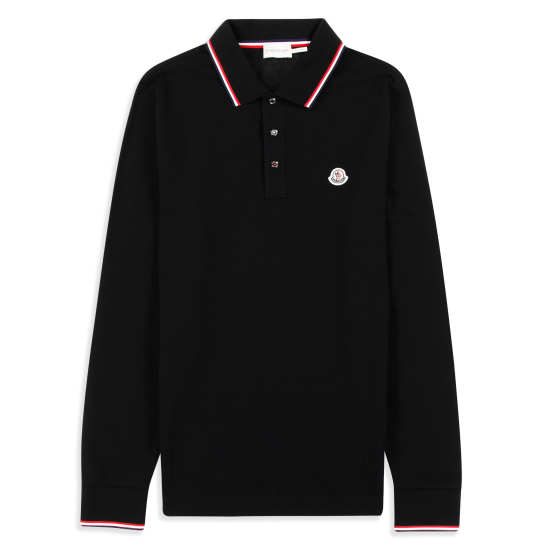 Men's Tipped Long Sleeve Piqué Polo