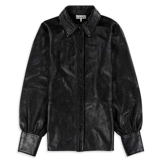 Women's Lambskin Leather Shirt