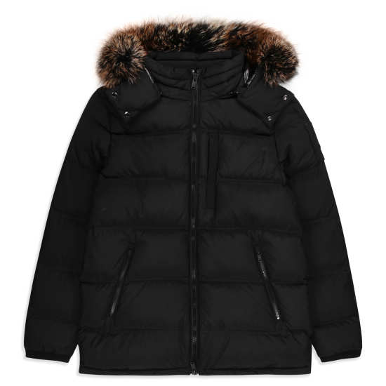 Men's Southdale Down Jacket with Genuine Fox Fur Trim