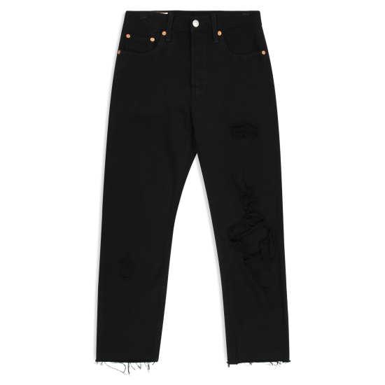 Women's 501® High Waist Ripped Crop Straight Leg Jeans